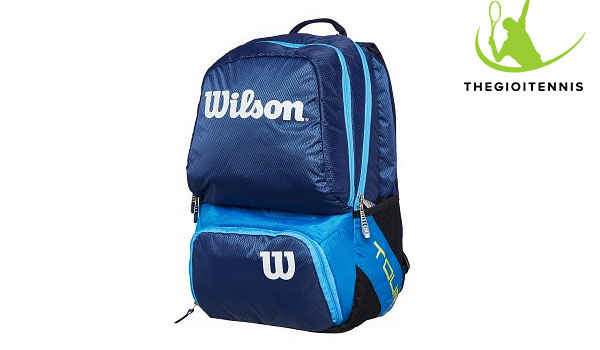 Balo tennis Wilson Tour V Blue Small nho gon, thanh lich va tien ich