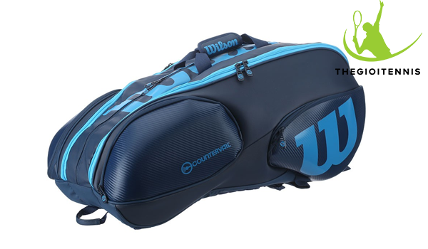Tui tennis Wilson Blue Tour Ultra 15 vot - chua do toi uu, chac chan