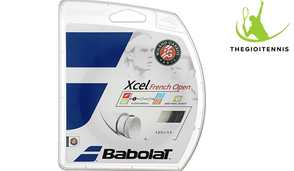 Cước vợt tennis Babolat Xcel French Open Black 17